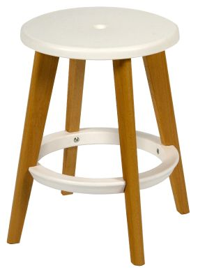 Tex Low Stool With A White Seat