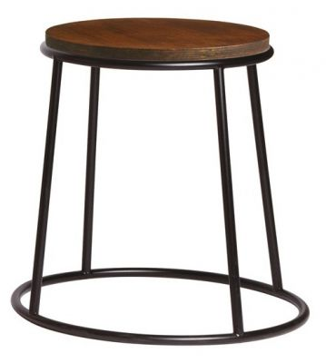 Maxo Low Stool With A Clear Frame And Ply Seat