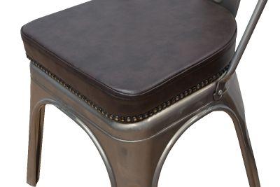 Tolix V2 Metal Side Chair Seat Detail