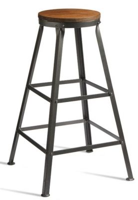 Henlade Retro Style High Stool With A 12mm Thick Ply Seat