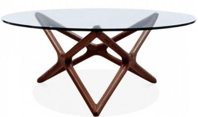 Niga Glass Coffee Table With A WAlnut Frame 1