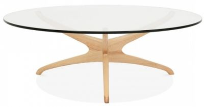 Roma Designer Coffee Table With A Natural Frame 2