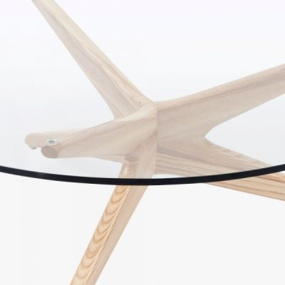 Starbust Coffee Table Natural Frame In Detail