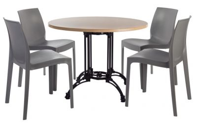 Moby Continental Dining Set Four With A Werz Beech Top