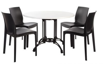 Moby Continentental Dining Set 4 With A White Werz Top