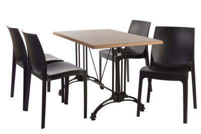 Moby Contiental Four Person Outdoor Dining Set 1