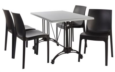 Moby Four Person Outdoor Dining Set 3