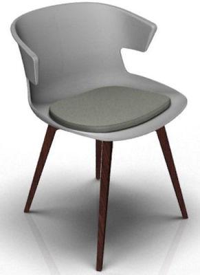 Elegante 4 Leg Designer Chair With Seat Pad - Grey And Wenge Grey