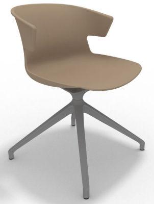 Elegante Spider Base Chair - Beige Aluminium