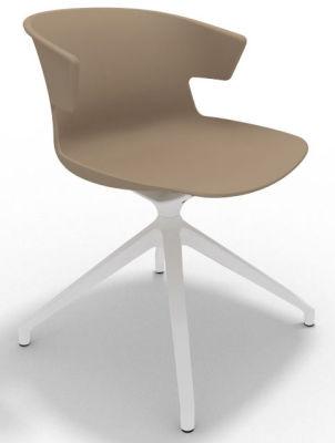 Elegante Spider Base Chair - Beige White