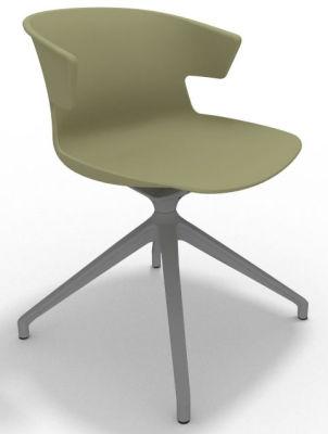 Elegante Spider Base Chair - Green Aluminium