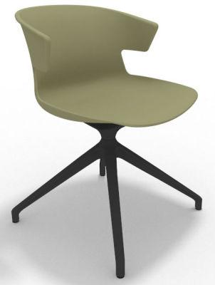 Elegante Spider Base Chair - Green Shadow Grey