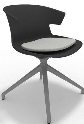 Elegante Spider Base Chair - Anthracite Grey Seat Pad