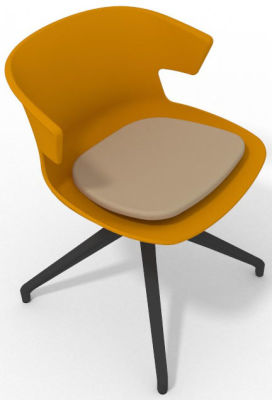 Elegante Spider Base Chair - Ochre Beige Shadow Grey