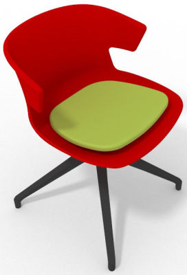 Elegante Spider Base Chair - Red Green Shadow Grey