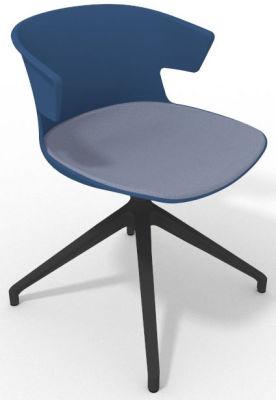Elegante Spider Base Chair - Blue Pidgeon Blue Shadow Grey