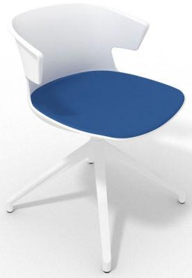 Elegante Spider Base Chair - White Blue White