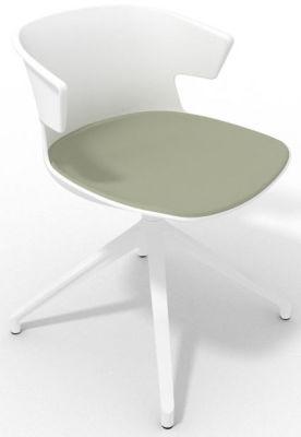 Elegante Spider Base Chair - White Olive Grey White