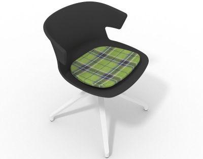 Elegante Spider Base Chair - Anthracite Tartan Green White