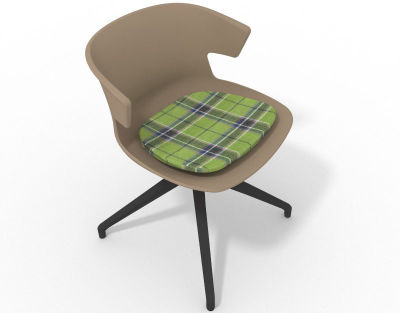 Elegante Spider Base Chair - Beige Tartan Grey Shadow Grey