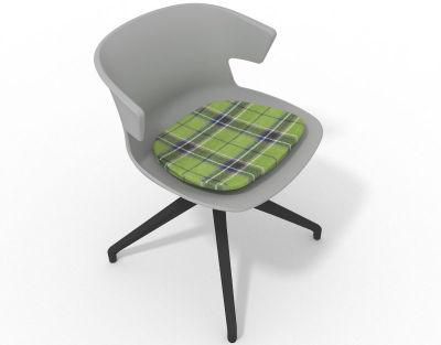 Elegante Spider Base Chair - Grey Tartan Green Shadow Grey