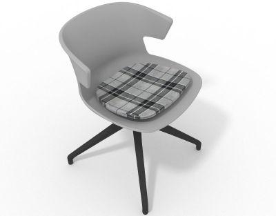 Elegante Spider Base Chair - Grey Tartan Grey Shadow Grey