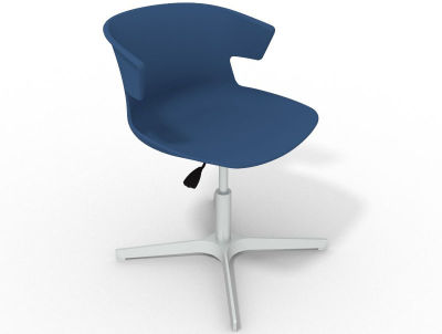 Elegante 4 Star Base Chair - Blue Aluminium