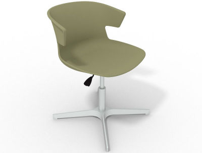 Elegante 4 Star Base Chair - Green Aluminium