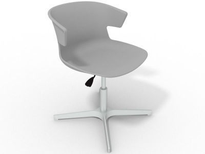 Elegante 4 Star Base Chair - Grey Aluminium