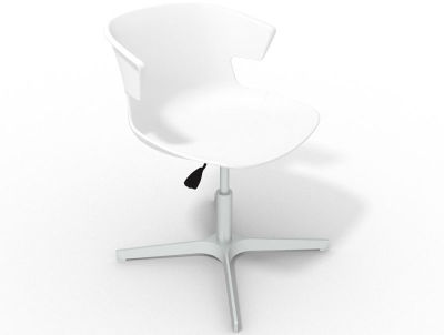 Elegante 4 Star Base Chair - White Aluminium