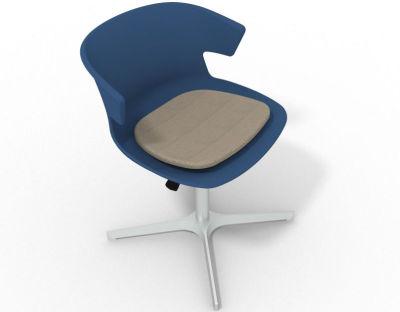 Elegante 4 Star Base Chair - Blue Dove Grey Aluminium