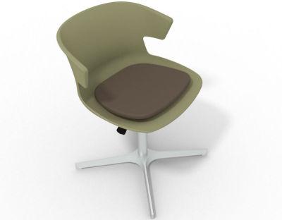 Elegante 4 Star Base Chair - Green Brown Aluminium