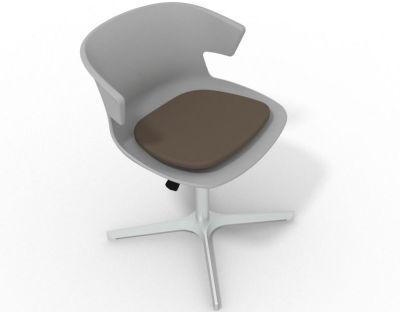 Elegante 4 Star Base Chair - Grey Brown Aluminium