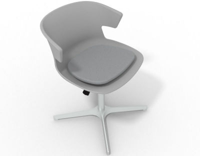 Elegante 4 Star Base Chair - Grey Grey Aluminium