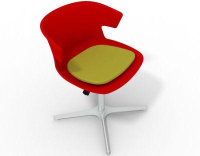 Elegante 4 Star Base Chair - Red Green Aluminium