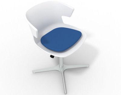 Elegante 4 Star Base Chair - White Blue Aluminium