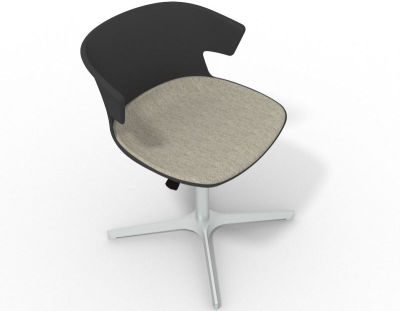 Elegante 4 Star Base Chair - Anthracite Beige Aluminium