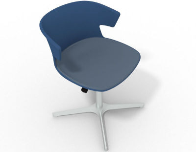 Elegante 4 Star Base Chair - Blue Pidgeon Blue Aluminium