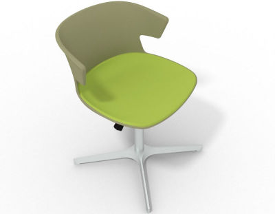Elegante 4 Star Base Chair - Green Light Green Aluminium
