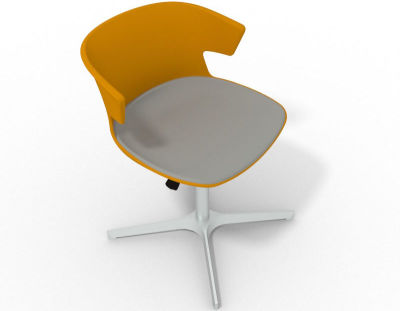 Elegante 4 Star Base Chair - Ochre Grey Aluminium
