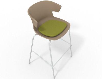 Elegante 4 Leg Bar Stool - With Seat Pad Beige Grass Green