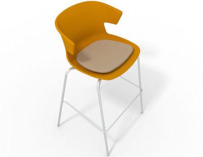 Elegante 4 Leg Bar Stool - With Seat Pad Ochre Beige