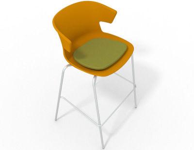 Elegante 4 Leg Bar Stool - With Seat Pad Ochre Grass Green