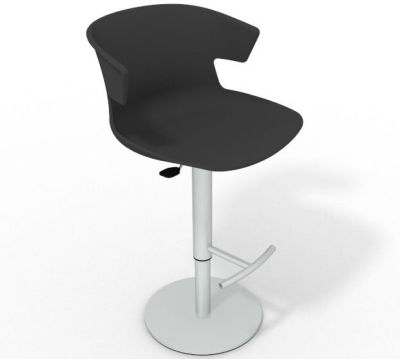 Elegante Height Adjustable Swivel Bar Stool - Anthracite