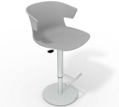 Elegante Height Adjustable Swivel Bar Stool - Grey