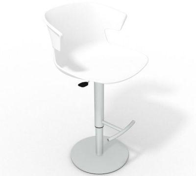 Elegante Height Adjustable Swivel Bar Stool - White