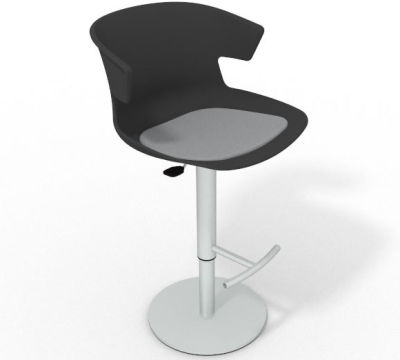 Elegante Height Adjustable Swivel Bar Stool - Seat Pad Anthracite Light Grey
