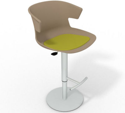 Elegante Height Adjustable Swivel Bar Stool - Seat Pad Beige Grass Green