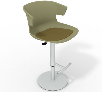 Elegante Height Adjustable Swivel Bar Stool - Seat Pad Green Olive Green