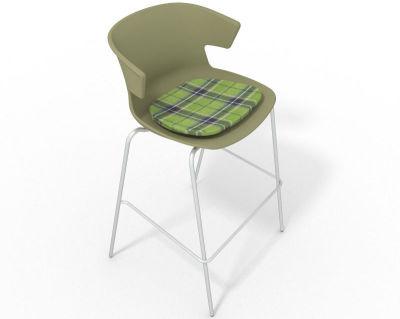 Elegante 4 Leg Bar Stool - With Feature Seat Pad Green Green